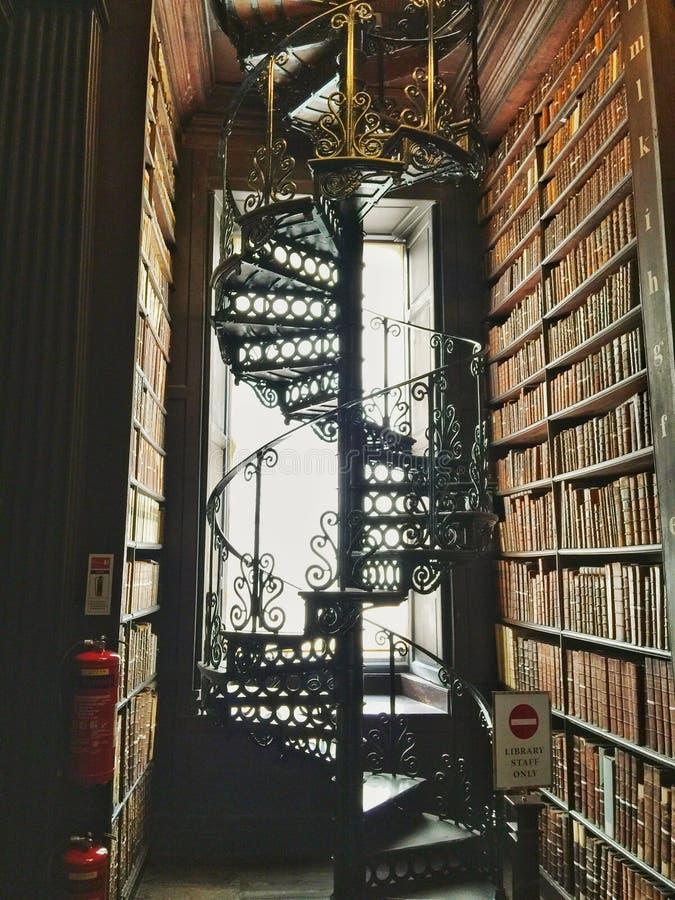 Dreiheits-College-Bibliothek Dublin Ireland lizenzfreie stockfotografie