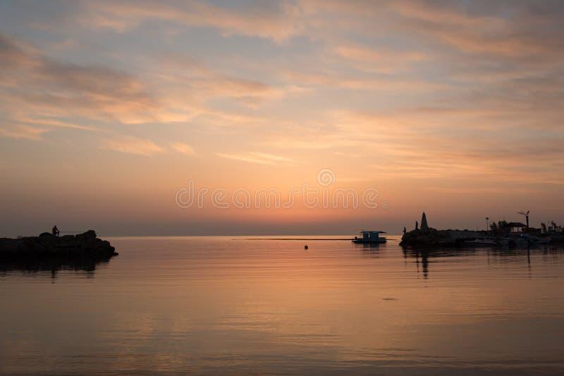 Dreiheits-Strand, Paralimni, Zypern stockfotos
