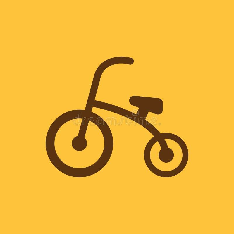 Dreiradikone Entwurf Fahrrad, Fahrrad, Dreiradsymbol web graphik ai app zeichen nachricht flach bild zeichen ENV Kunst vektor abbildung