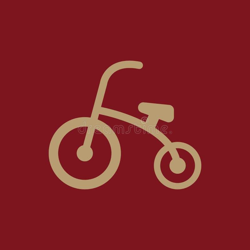 Dreiradikone Entwurf Fahrrad, Fahrrad, Dreiradsymbol web graphik ai app zeichen nachricht flach bild zeichen ENV Kunst stock abbildung
