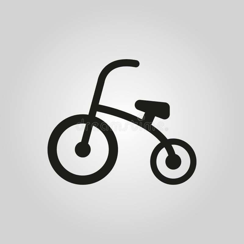 Dreiradikone Entwurf Fahrrad, Fahrradsymbol web graphik ai app zeichen nachricht flach bild zeichen ENV Kunst Bild - vektor abbildung