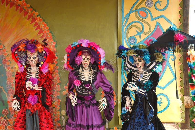 Dreitägig von den toten Abbildungen, Día de Los Muertos stockfotos