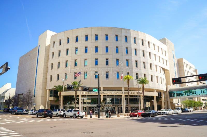Dreizehntes Gerichtsschwurgericht, Edgecomb-Gericht, im Stadtzentrum gelegenes Tampa, Florida lizenzfreie stockfotos