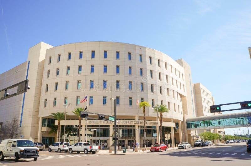Dreizehntes Gerichtsschwurgericht, Edgecomb-Gericht, im Stadtzentrum gelegenes Tampa, Florida lizenzfreie stockfotografie