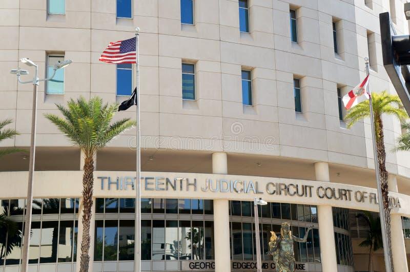 Dreizehntes Gerichtsschwurgericht von Florida, im Stadtzentrum gelegenes Tampa, Florida, Vereinigte Staaten lizenzfreies stockfoto