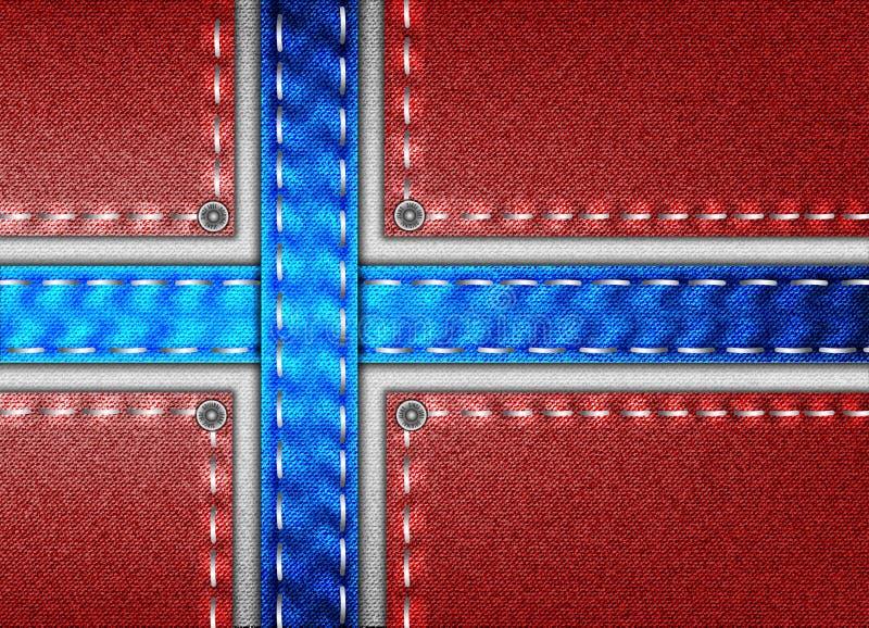 Drelich flaga Norwegia zdjęcia royalty free