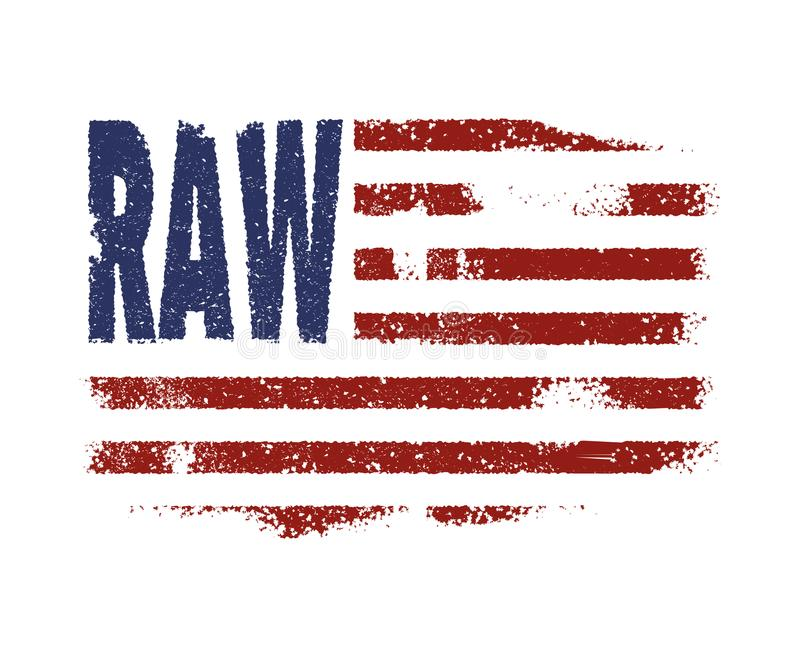 Drelichowa America flaga typografia ilustracji