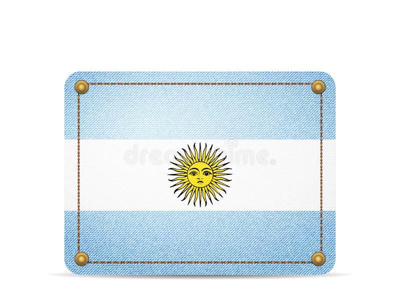 Drelichowa Argentyna flaga ilustracja wektor