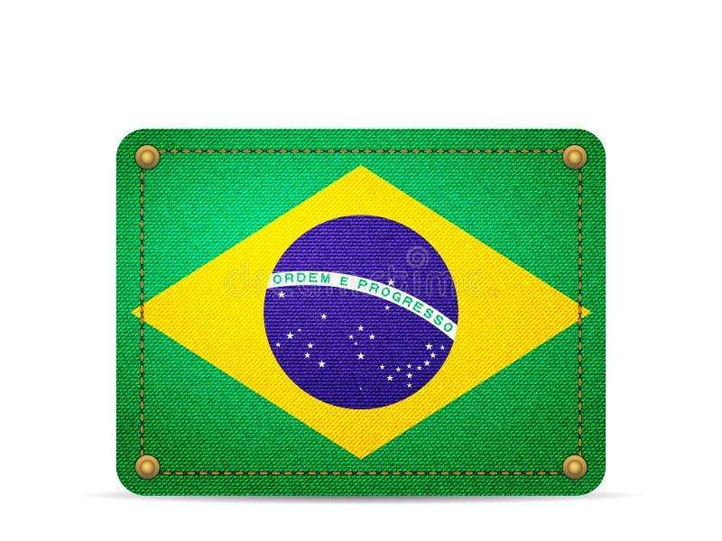 Drelichowa Brazylia flaga ilustracji