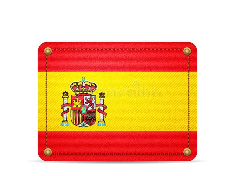 Drelichowa Hiszpania flaga ilustracja wektor