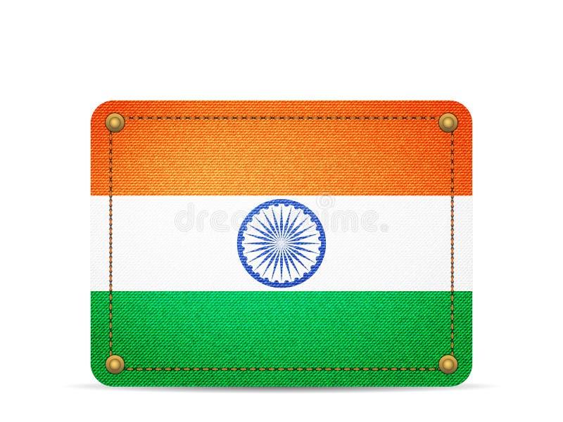 Drelichowa India flaga ilustracja wektor