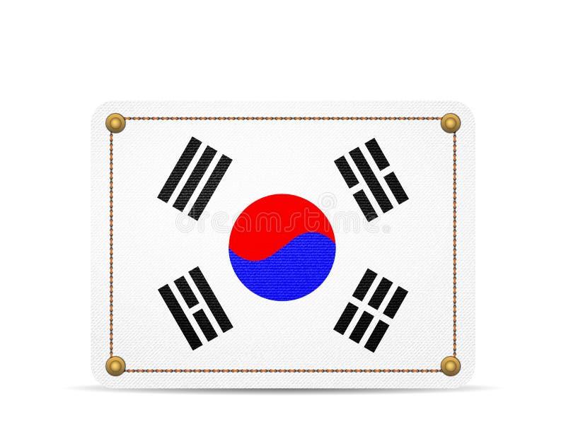 Drelichowa Południowego Korea flaga ilustracji