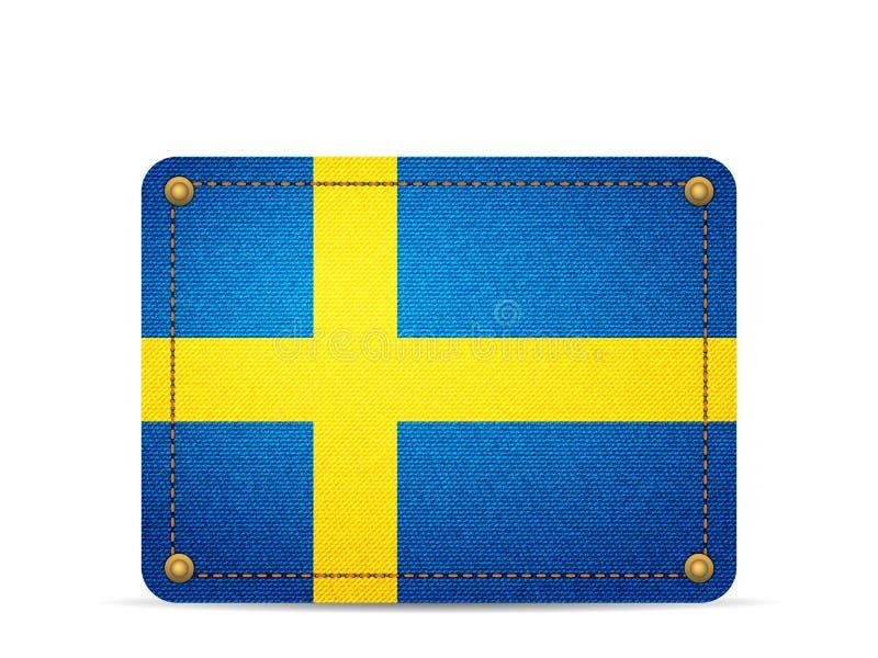 Drelichowa Szwecja flaga ilustracja wektor