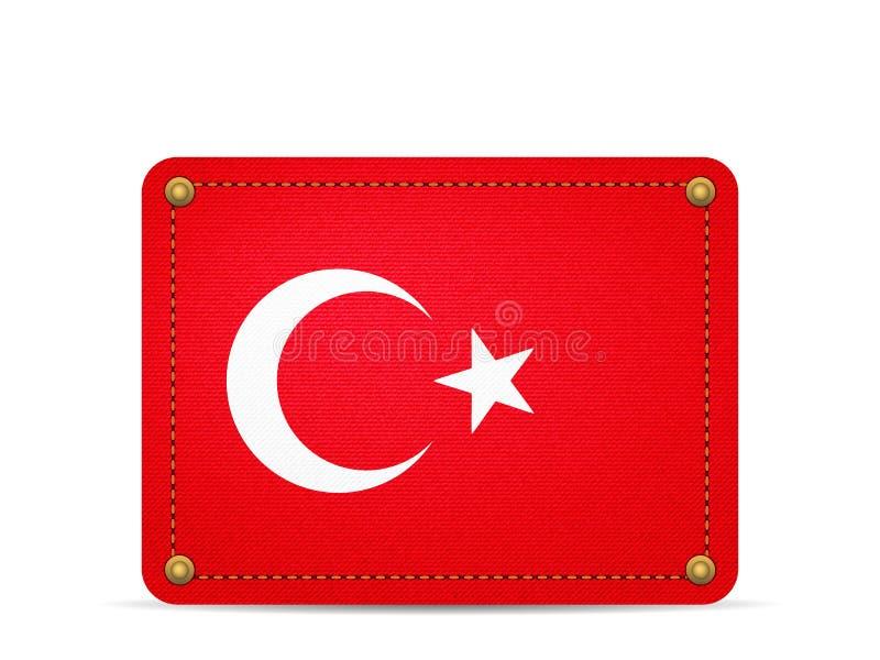 Drelichowa Turcja flaga ilustracji