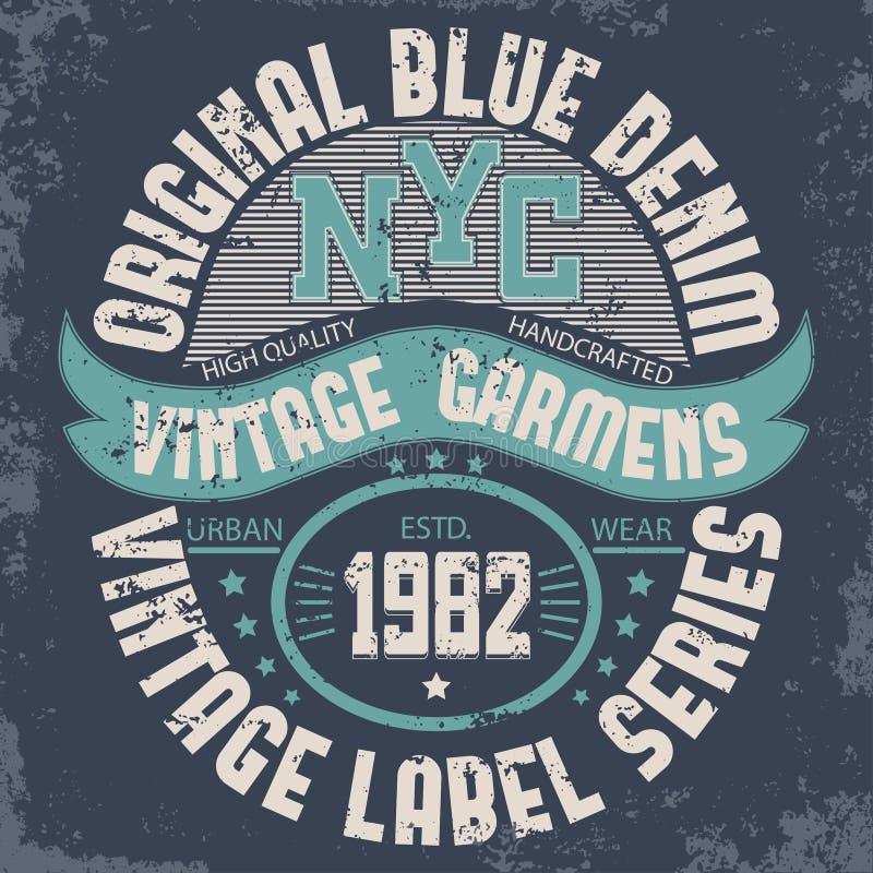 Drelichowa typografia, koszulek grafika ilustracja wektor