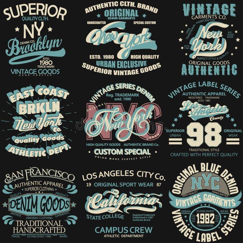 Drelichowa typografia, koszulek grafika ilustracji