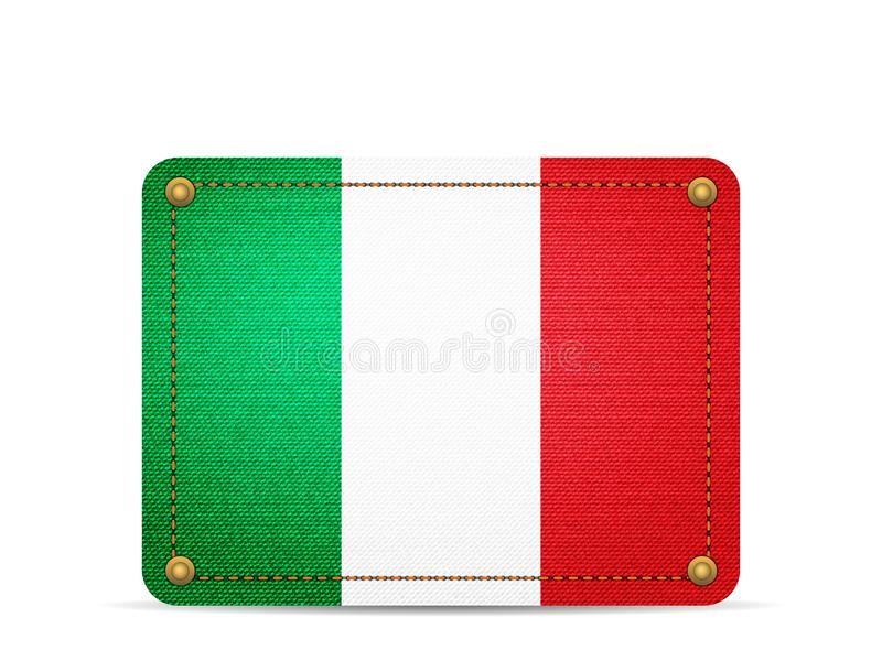 Drelichowa Włochy flaga ilustracja wektor