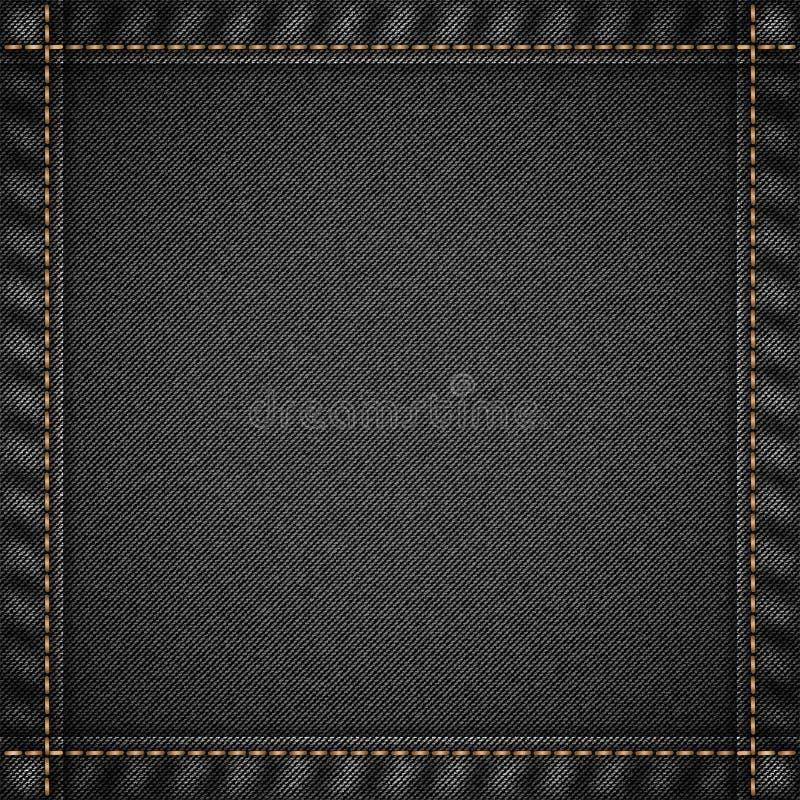 Drelichowy cajg tekstury wzór ilustracja wektor
