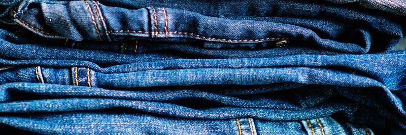 drelichy tylna tła cajgów kieszeń Drelichowi cajgi tekstura lub drelichów cajgów tło fotografia royalty free