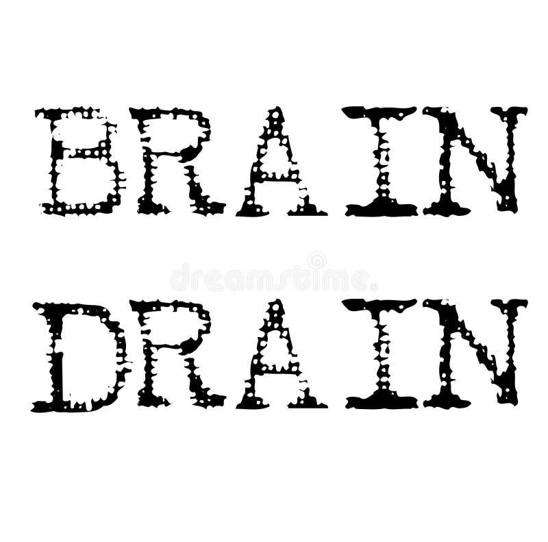 Drenażu mózgu czerni znaczek ilustracji