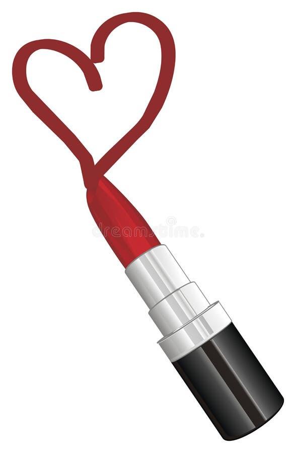 Drenaje con el lápiz labial stock de ilustración