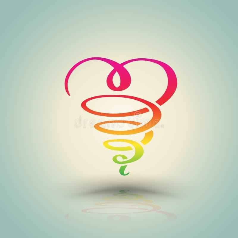 Drenaje de la mano de la torsión del corazón libre illustration