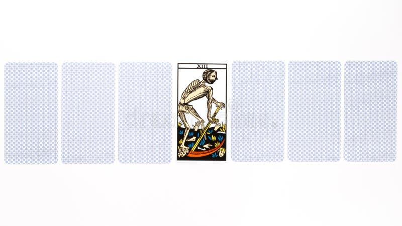 Drenaje de la muerte de la carta de tarot foto de archivo libre de regalías