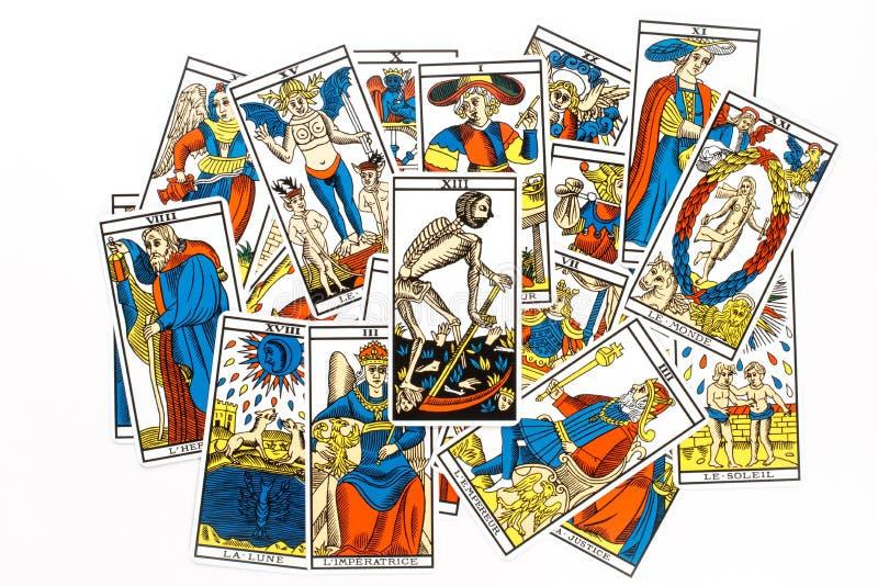 Drenaje de la muerte de la carta de tarot libre illustration
