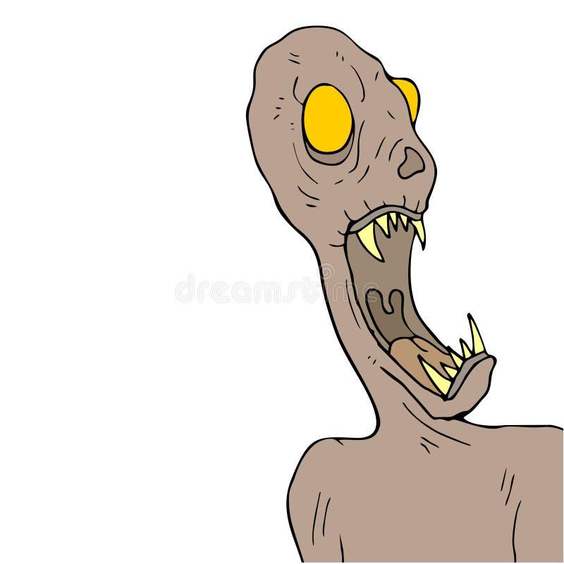 Drenaje del monstruo del miedo de Halloween stock de ilustración