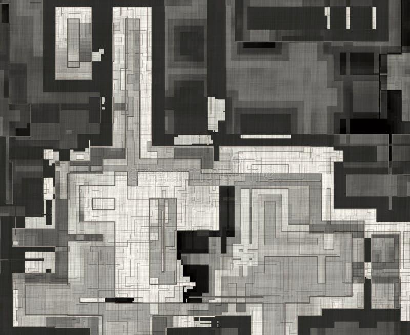Drenaje del plan de la ciudad de la visión superior con el lápiz Abstraiga los fondos imagenes de archivo