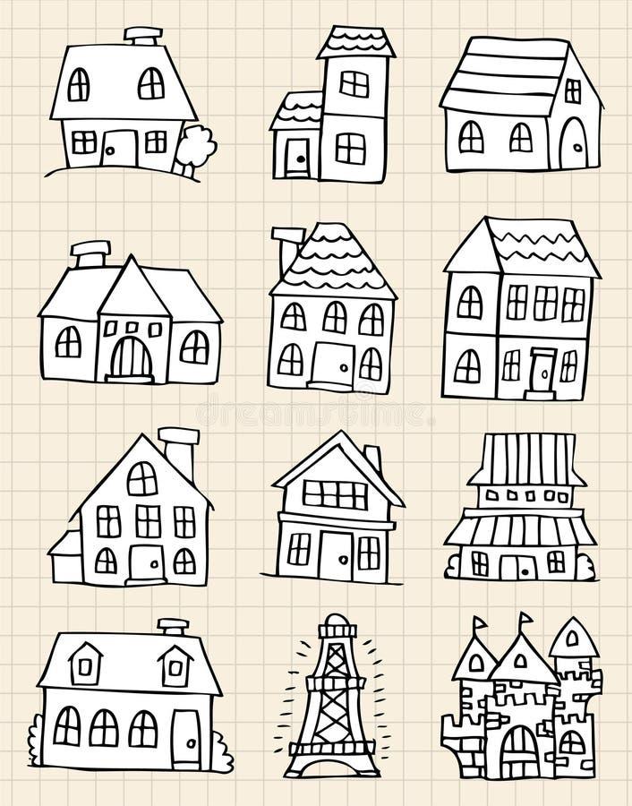 Drenaje lindo de la casa ilustración del vector