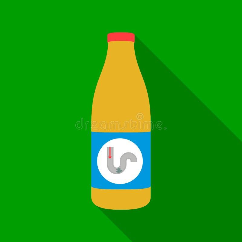 Drene um ícone mais limpo no estilo liso isolado no fundo branco Ilustração do vetor do estoque do símbolo do encanamento ilustração stock