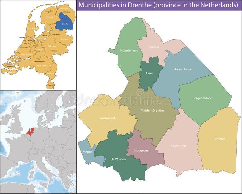 Drenthe jest prowincją holandie ilustracji