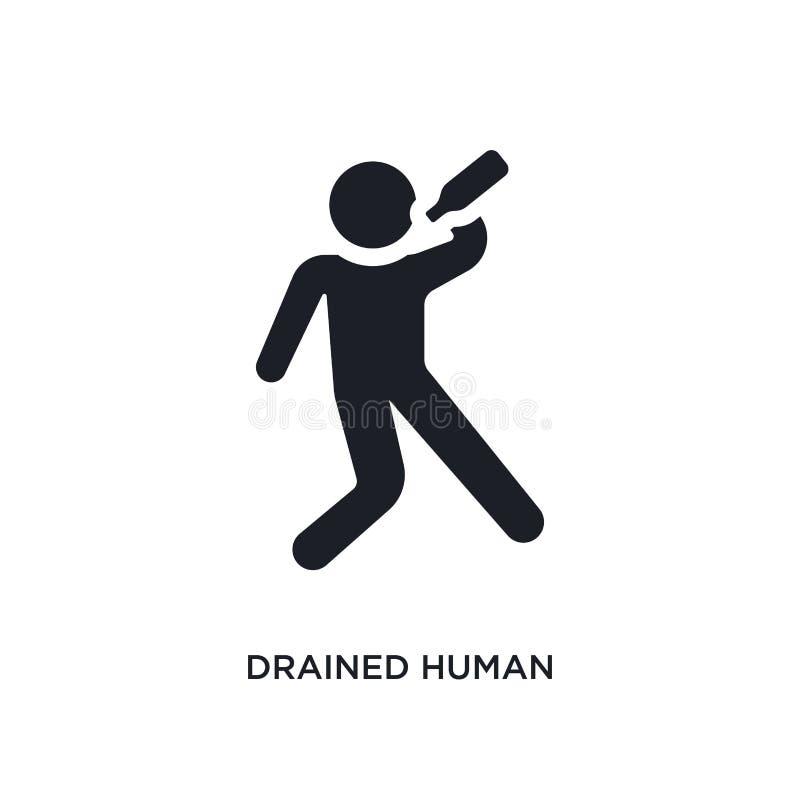 drenująca istoty ludzkiej odosobniona ikona prosta element ilustracja od uczucia pojęcia ikon drenujący ludzki editable logo znak ilustracja wektor