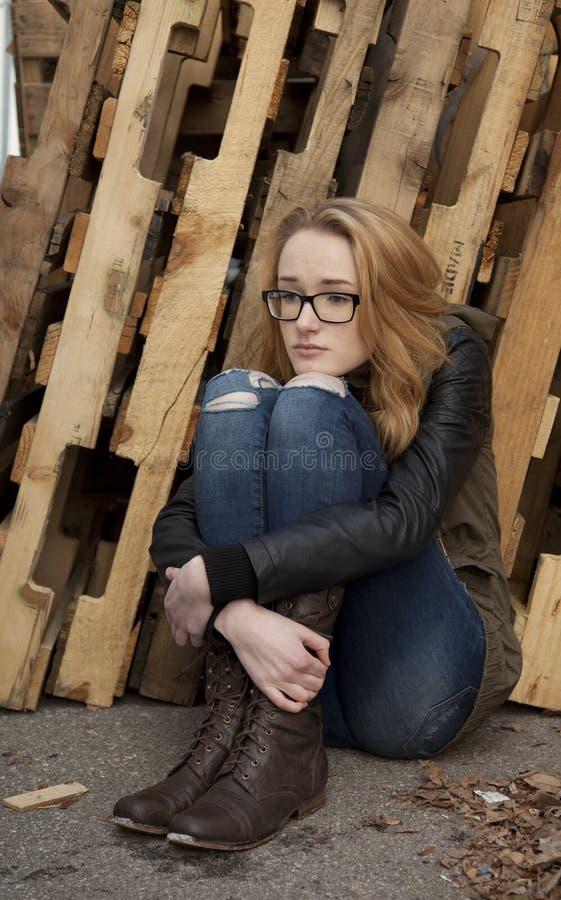 Drepressed-Jugendliche stockfotos