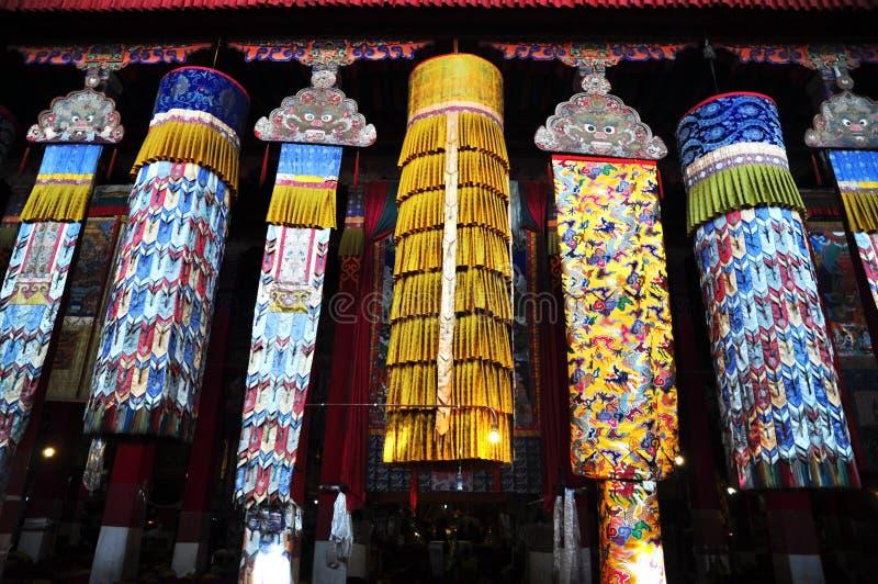 Drepung monasteru wnętrza baldachim obrazy stock