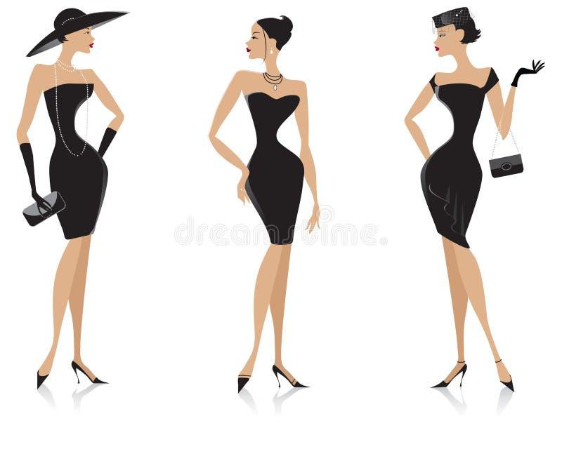 Dres pretos ilustração royalty free