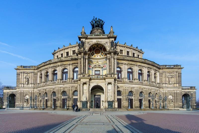Dresda Semperoper Germania immagine stock libera da diritti