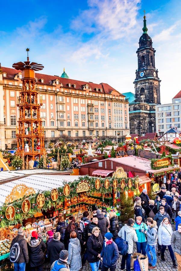 Dresde, Allemagne - Striezelmarkt sur Noël image stock