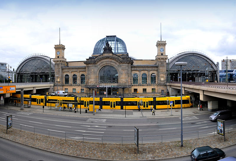 Dresde Hauptbahnhof photo libre de droits