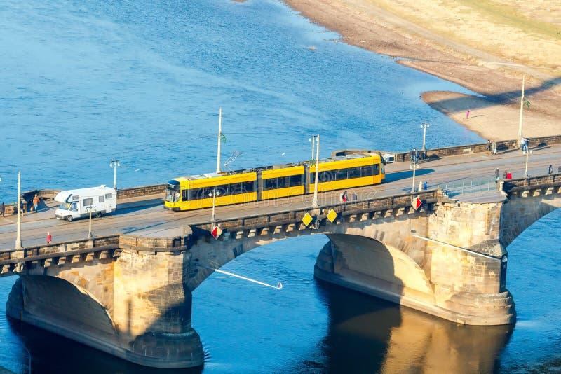 dresden Мост Augustus сильная стоковая фотография