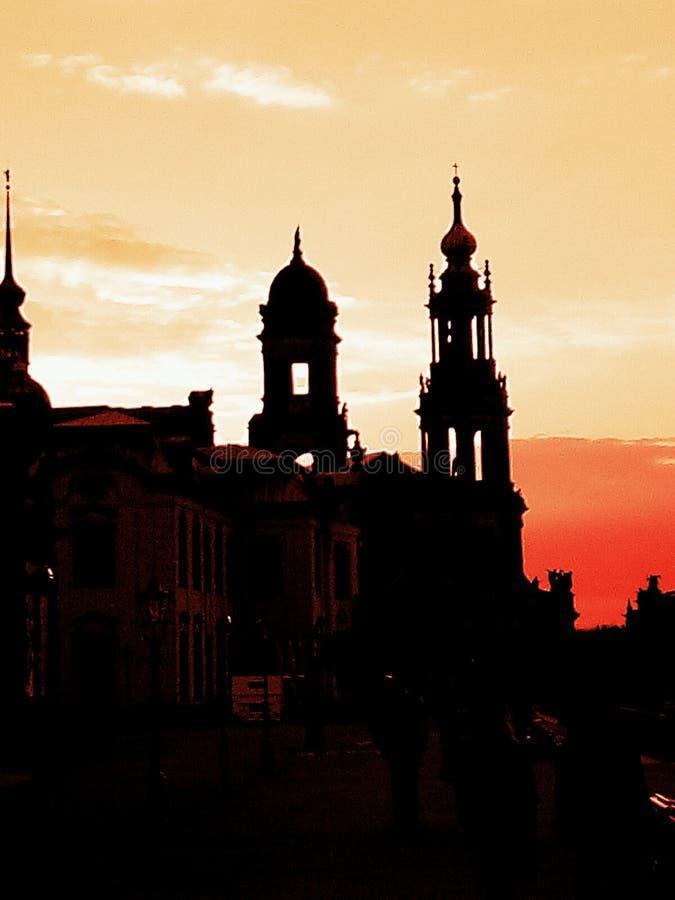 Dresden am Abend stockfoto