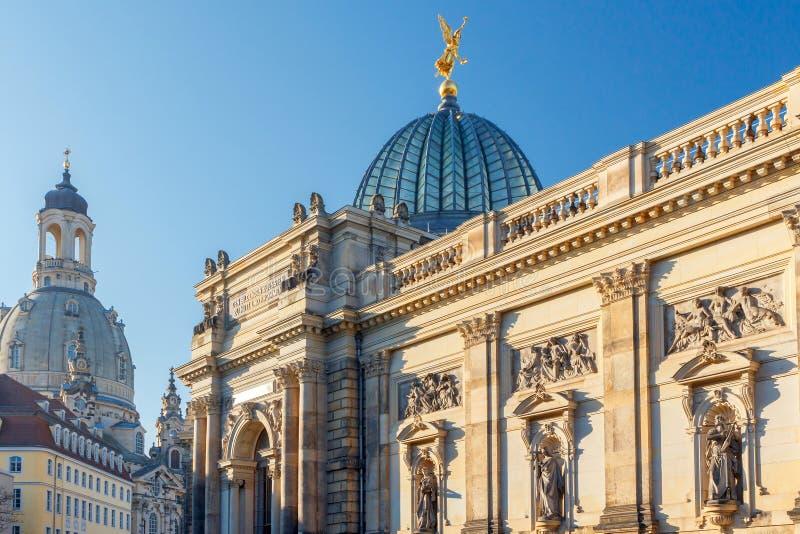 Dresden. Academy of Arts. stock photos