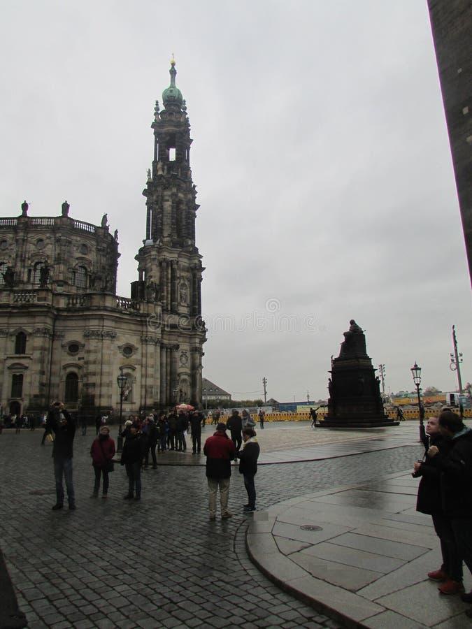 Dresden, Alemania Arquitectura medieval de la capital de Sajonia fotos de archivo