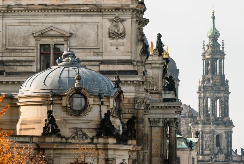 Dresden Altstadt, close-up imagem de stock