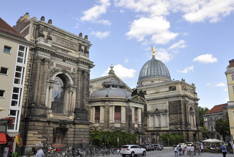 Dresden,August 28:Academy of Fine Arts from Dresden in Germany stock photography