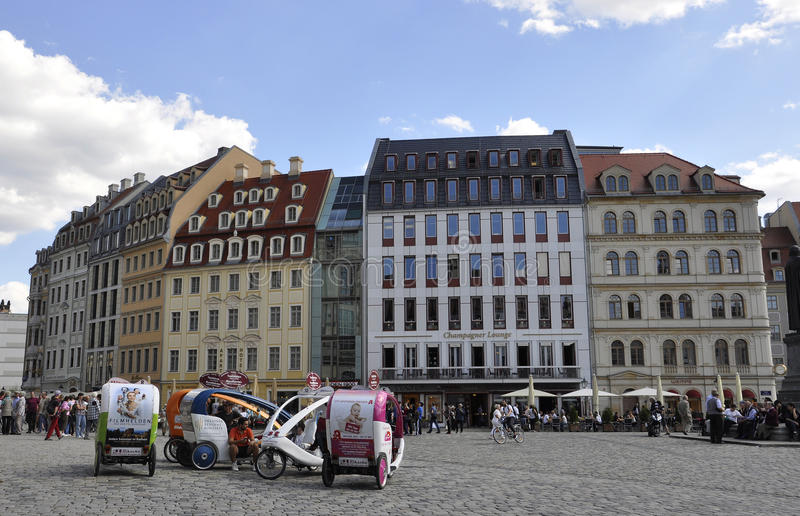Dresden,august 28:Downtown plaza from Dresden in Germany stock photo