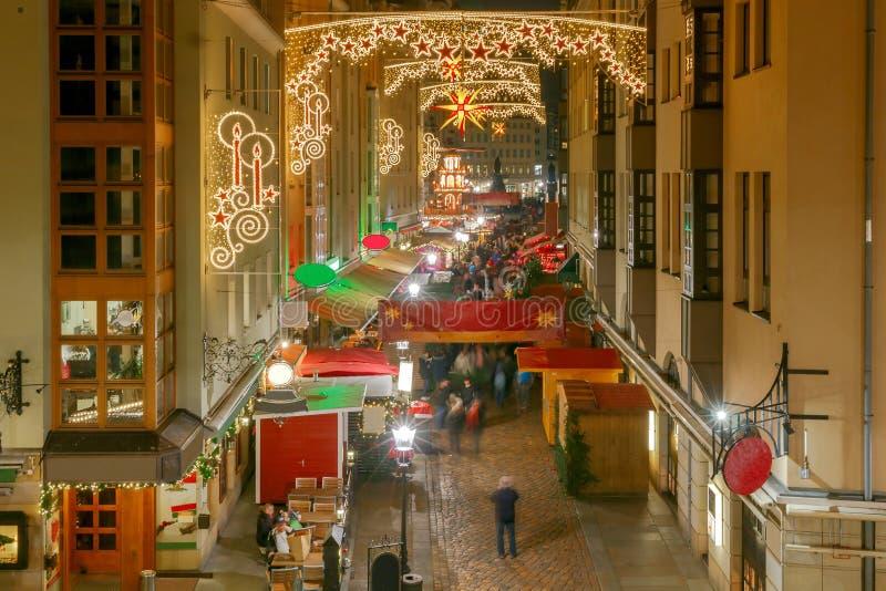 dresden Calle de la Navidad imagen de archivo