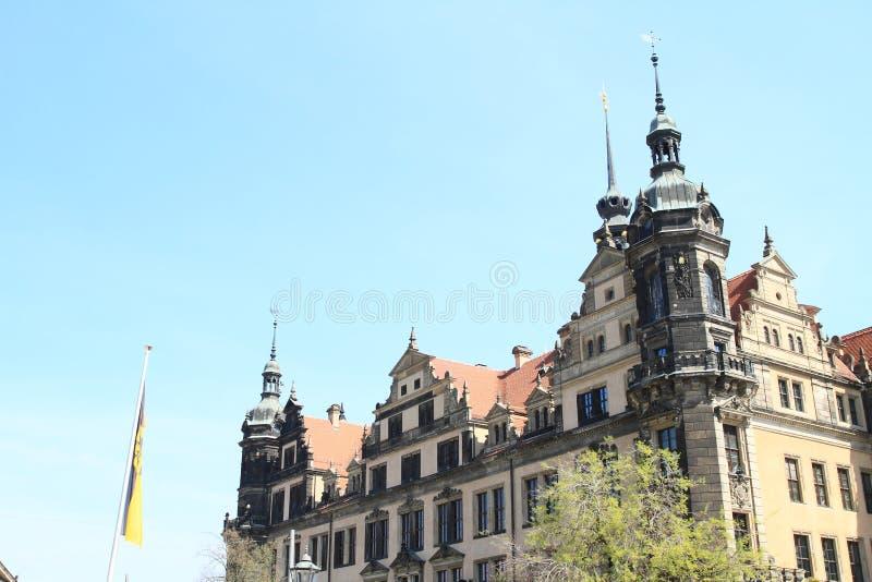 Dresden Castle royaltyfria foton
