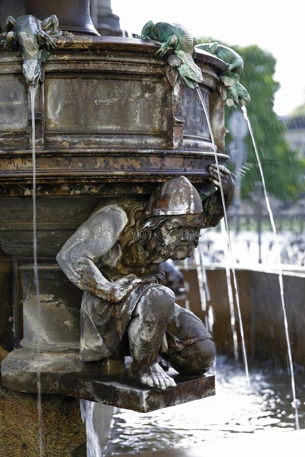 Dresden: Cholera-Brunnen lizenzfreie stockfotos